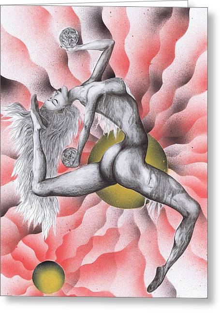 Expression Of Movement Two Greeting Card by Kenneth Clarke