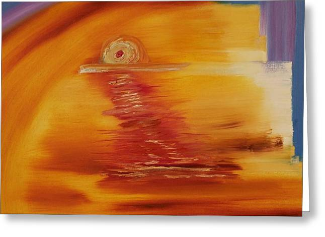 Expressionism Sunset Greeting Card