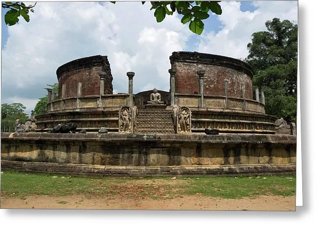 Exterior Of Polonnaruwa Vatadage Greeting Card