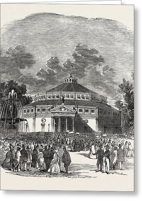 Exterior Of The Circus Of The Champs Elysees Greeting Card