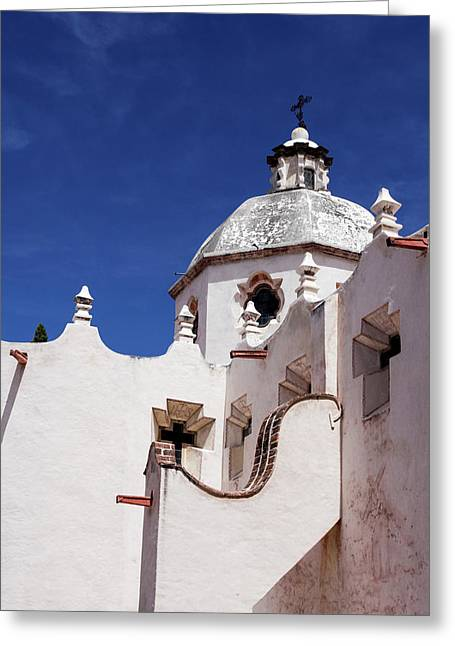 Exterior View Of A Church In San Miguel Greeting Card