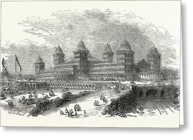 Exterior View Of The Palace At Muswell Hill Greeting Card