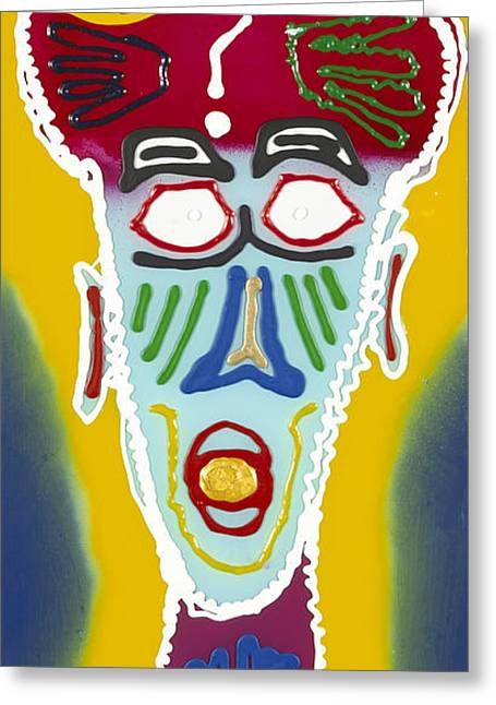 External Head Greeting Card by Patrick OLeary