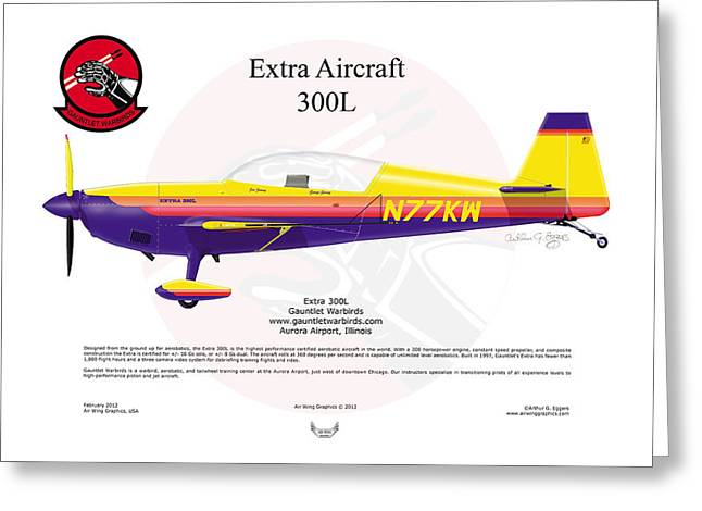 Extra Aircraft 300l Greeting Card by Arthur Eggers