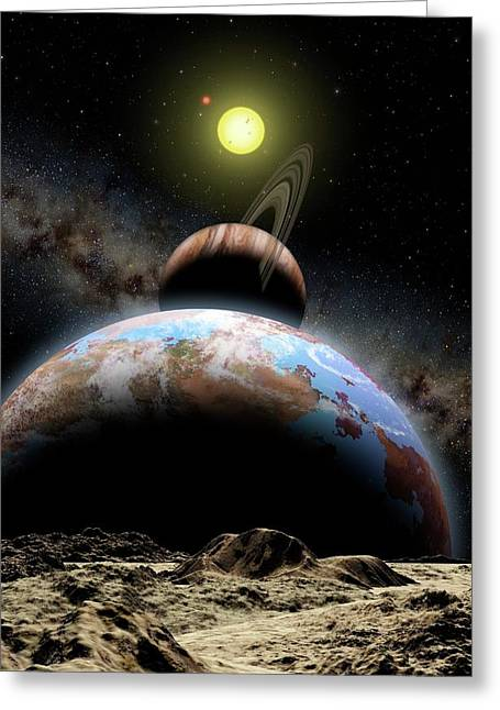Extrasolar Planetary System Greeting Card