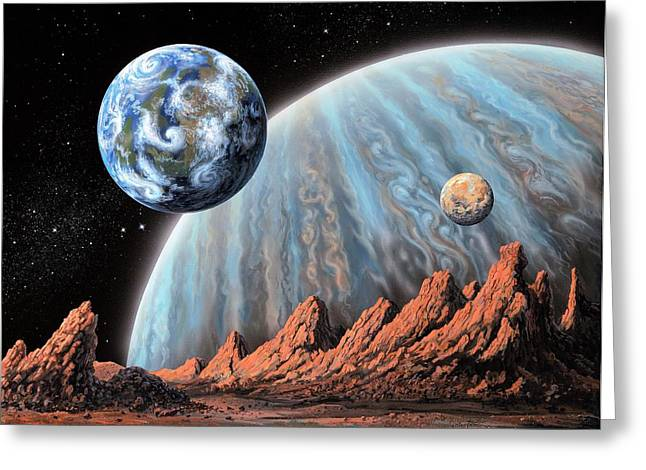 Extrasolar Planets Greeting Card