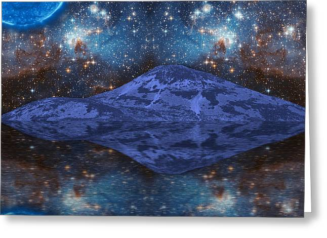 Extraterrestrial Fantasy Greeting Card by Semmick Photo