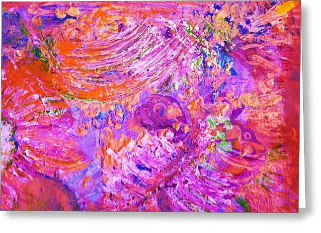 Extravaganza 2 Greeting Card by Anne-Elizabeth Whiteway