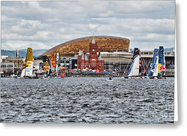 Extreme 40 At Cardiff Bay Greeting Card by Steve Purnell