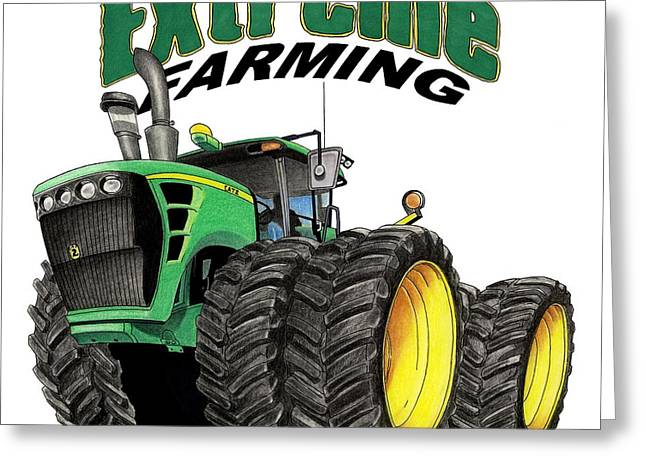 Extreme Farming Greeting Card by Lyle Brown