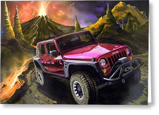 Extreme Off Roading Greeting Card