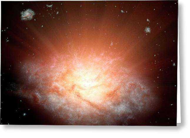 Extremely Luminous Infrared Galaxy Greeting Card