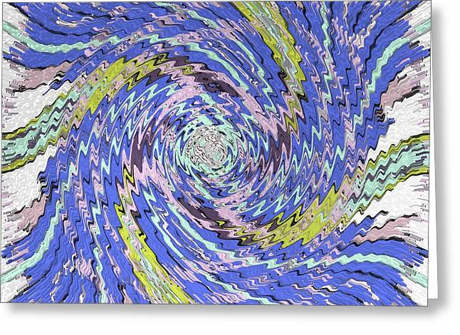 Extruded Twirly Greeting Card by Brian Johnson