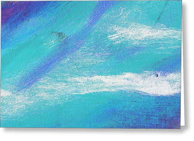 Exuberant Blue Greeting Card by L J Smith