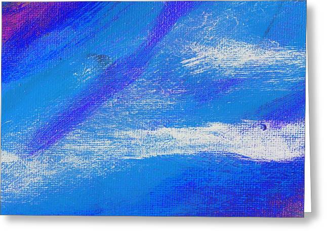 Exuberant Midnight Blue Greeting Card by L J Smith