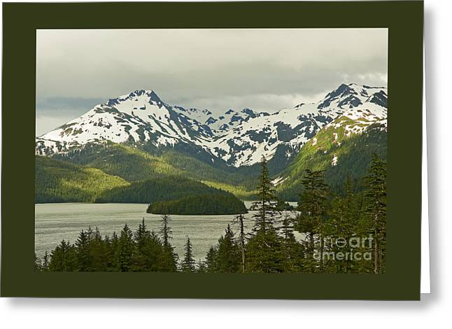 Greeting Card featuring the photograph Eyak Lake Landscape by Nick  Boren
