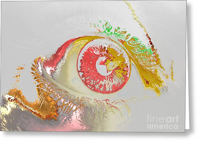 Eye 2 Greeting Card by Soumya Bouchachi