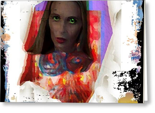 Greeting Card featuring the digital art Eye Am  by Lisa Piper