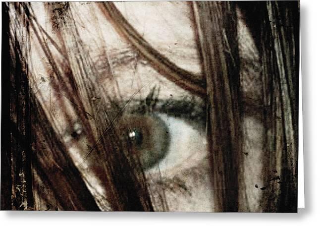 Eye-dentify Greeting Card by Sharon Kalstek-Coty