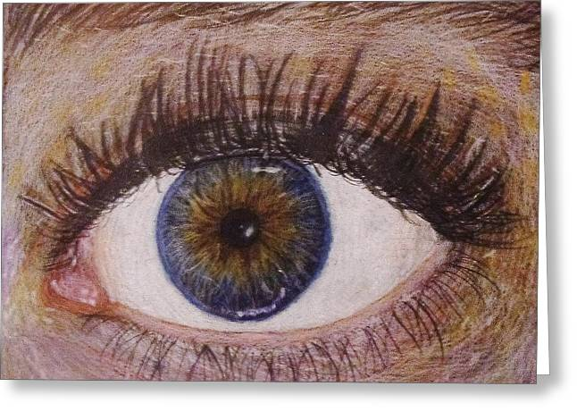 Eye Drawing Greeting Card by Savanna Paine