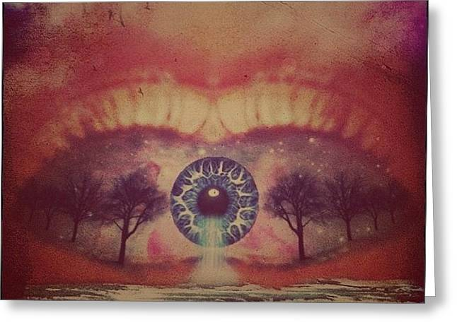 eye #dropicomobile #filtermania Greeting Card by Tatyanna Spears