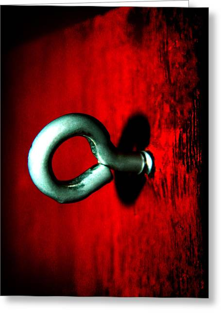 Greeting Card featuring the photograph Eye Hook by Ester  Rogers