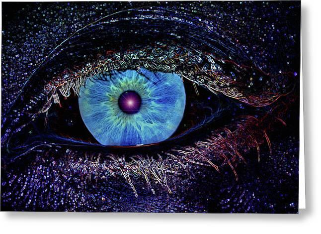Eye In The Sky Greeting Card by Joann Vitali