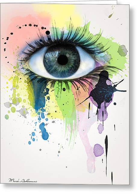 eye Greeting Card by Mark Ashkenazi