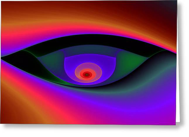 Eye Of A Stranger No. 2 Greeting Card by Mark Eggleston