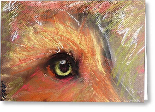 Eye Of Fox Greeting Card by Michelle Wolff