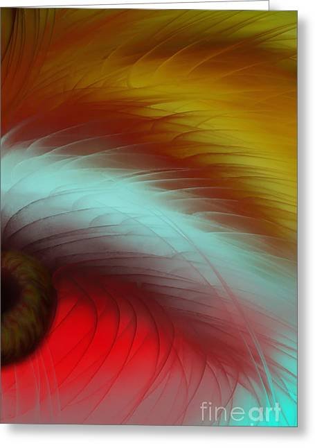 Eye Of The Beast Greeting Card by Anita Lewis