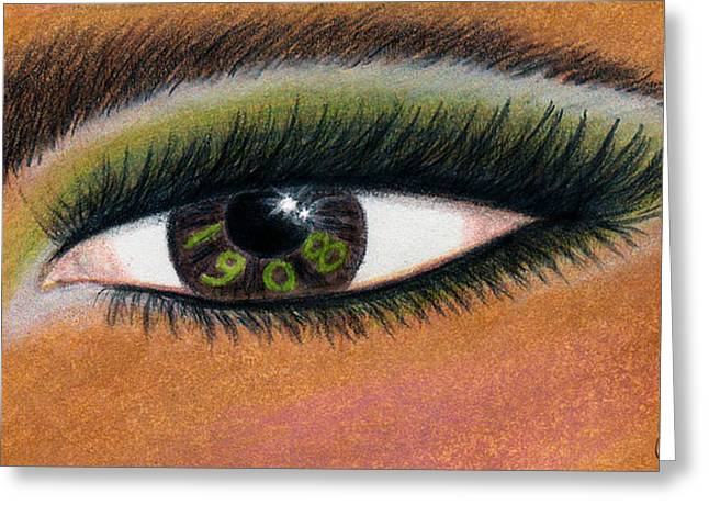 Eye Of The Beholder Series- 1908 Greeting Card by BFly Designs