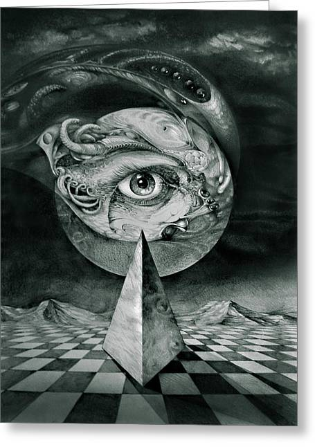 Eye Of The Dark Star Greeting Card by Otto Rapp
