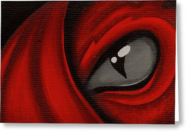Eye Of The Scarlett Hatching Greeting Card by Elaina  Wagner