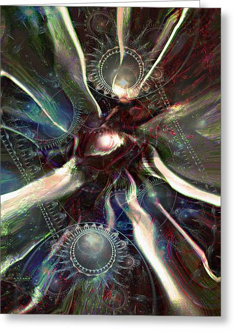 Eye Of The Universe Greeting Card by Linda Sannuti