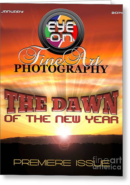 Eye On Fine Art Photography Magazine Cover Greeting Card