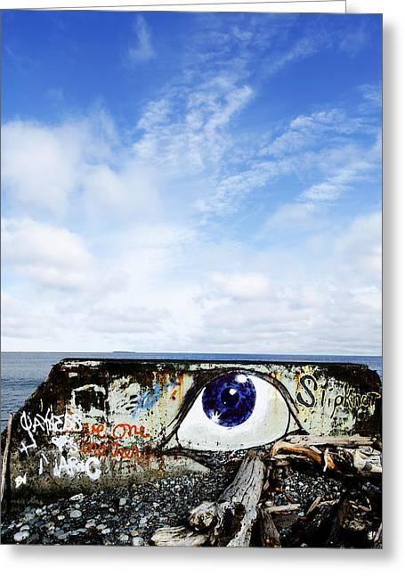 Eye On The Strait Greeting Card