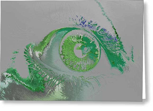 Eye Greeting Card by Soumya Bouchachi