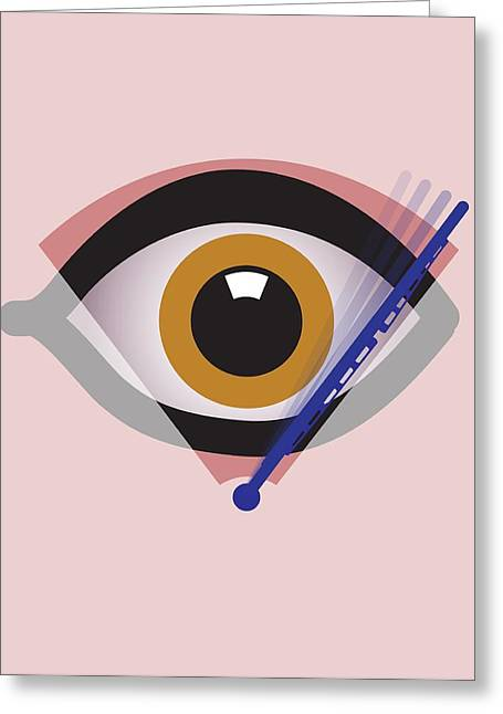 Eye Surgery, Conceptual Artwork Greeting Card