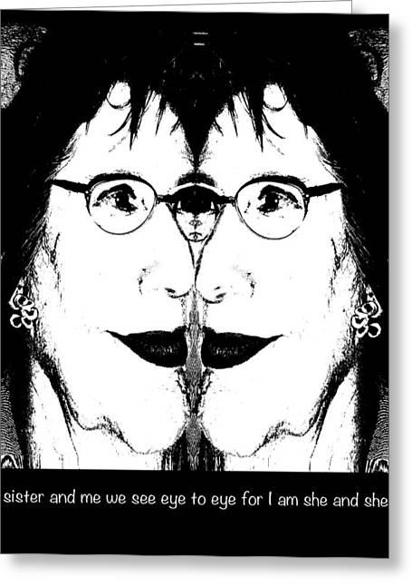 Eye To Eye Greeting Card by Ginny Schmidt