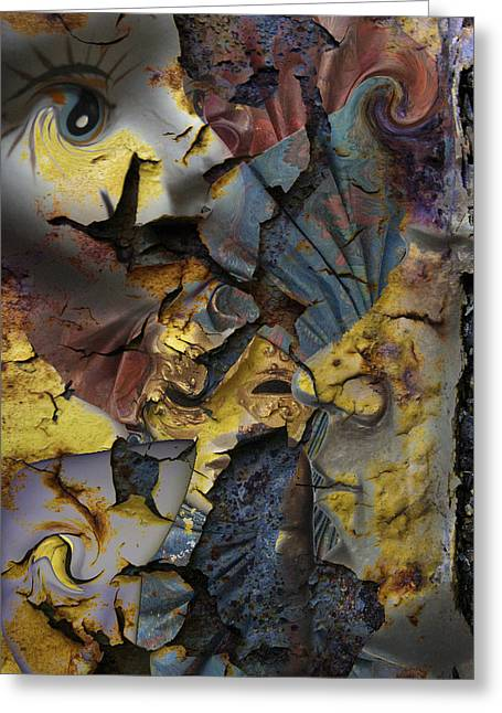 Eyes In The Storm  Greeting Card by Jerry Cordeiro