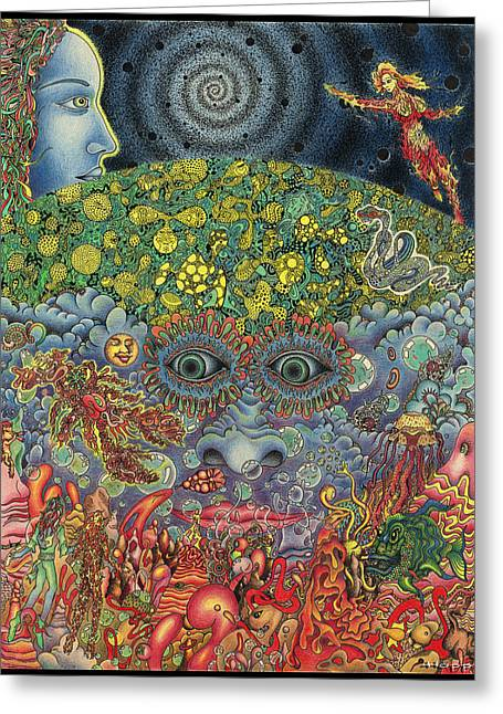 Eyes Of The Mind Greeting Card