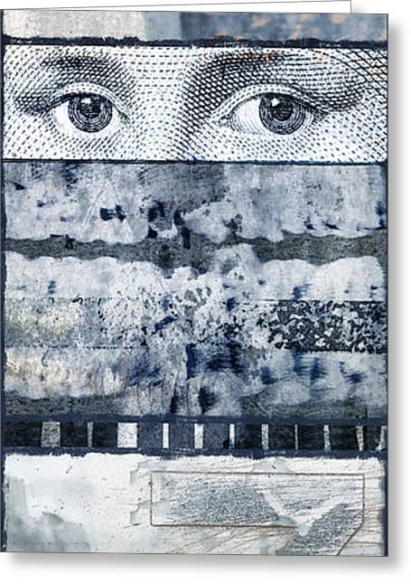 Eyes On Seven Greeting Card by Carol Leigh