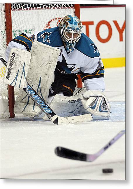 Eyes On The Prize  Antti Niemi Greeting Card by Don Olea
