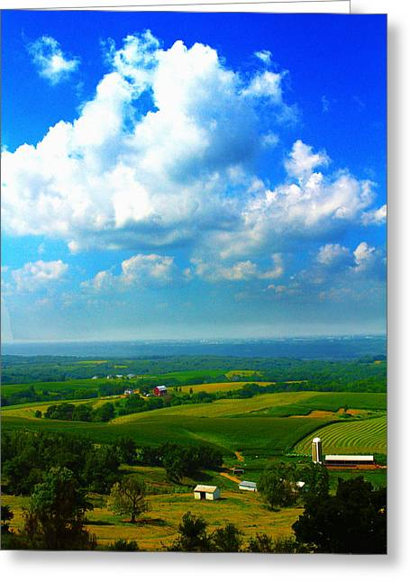 Eyes Over Farmland Greeting Card