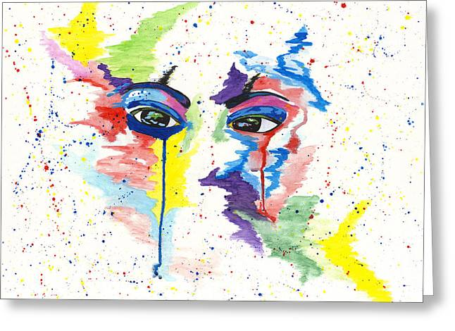 Eyez Greeting Card by Rishanna Finney
