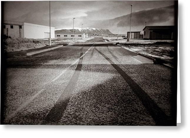 Eyrarbakki Tracks Greeting Card by Dave Bowman