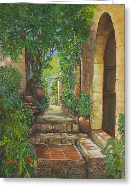 Eze Village Greeting Card