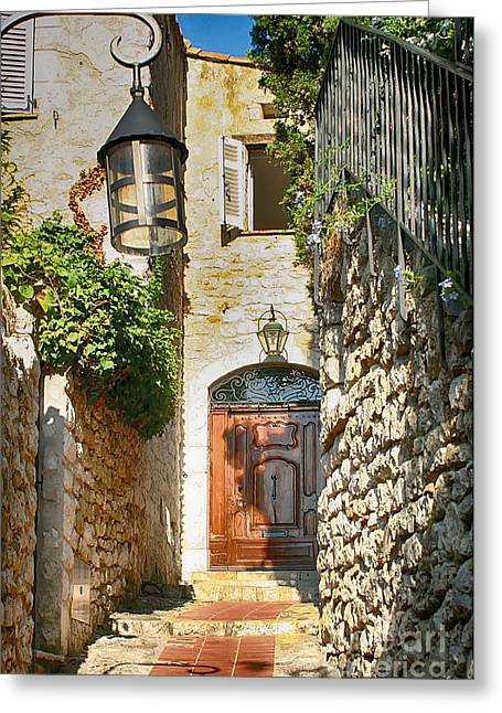 Eze Welcome Door Greeting Card by Kate McKenna