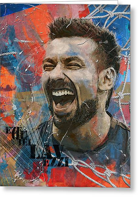 Ezequiel Lavezzi - B Greeting Card by Corporate Art Task Force